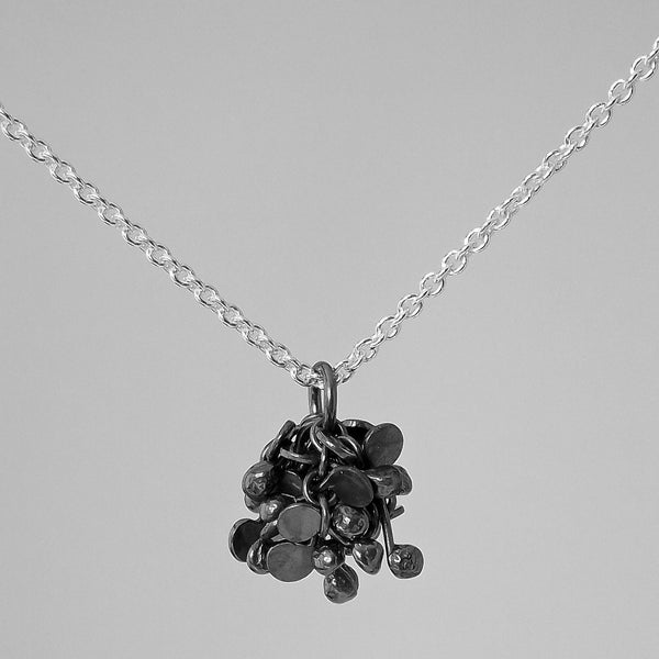 Radiance Pendant, oxidised silver by Fiona DeMarco