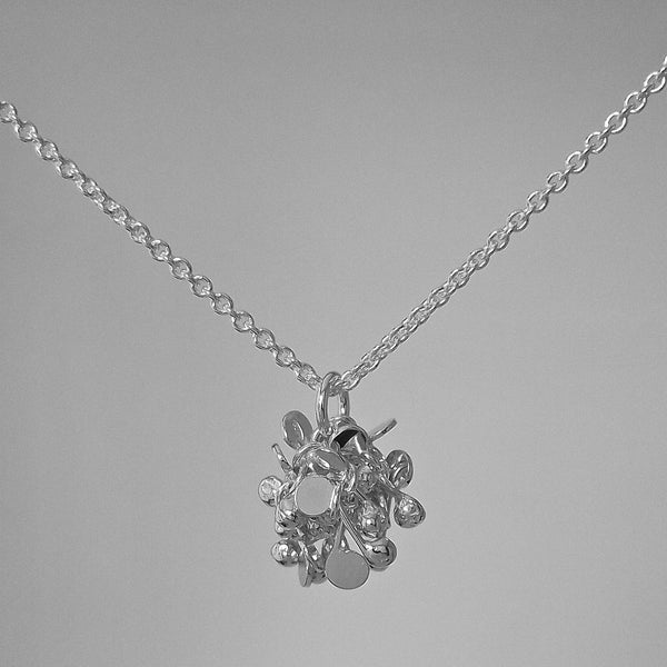 Radiance Pendant, polished silver by Fiona DeMarco