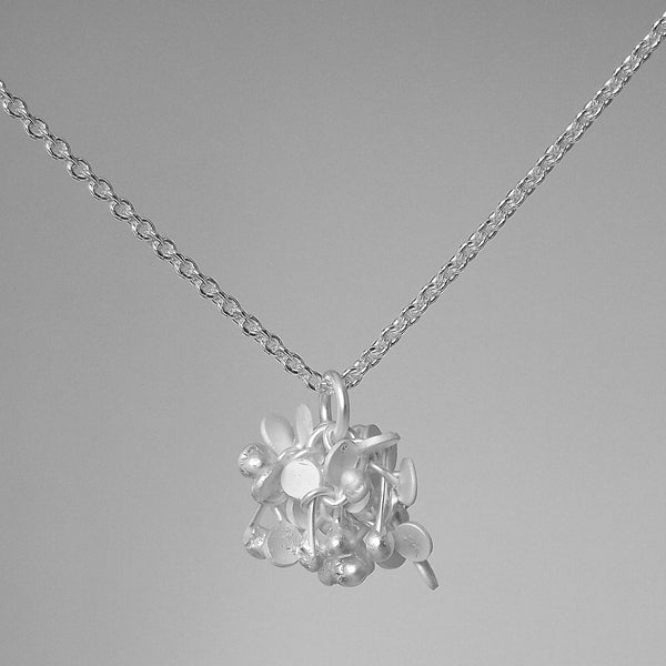 Radiance Pendant, satin silver by Fiona DeMarco