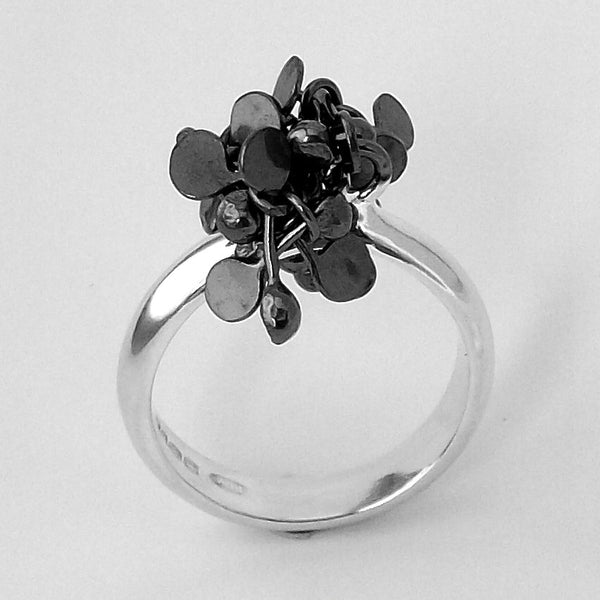 Radiance Ring, oxidised silver by Fiona DeMarco