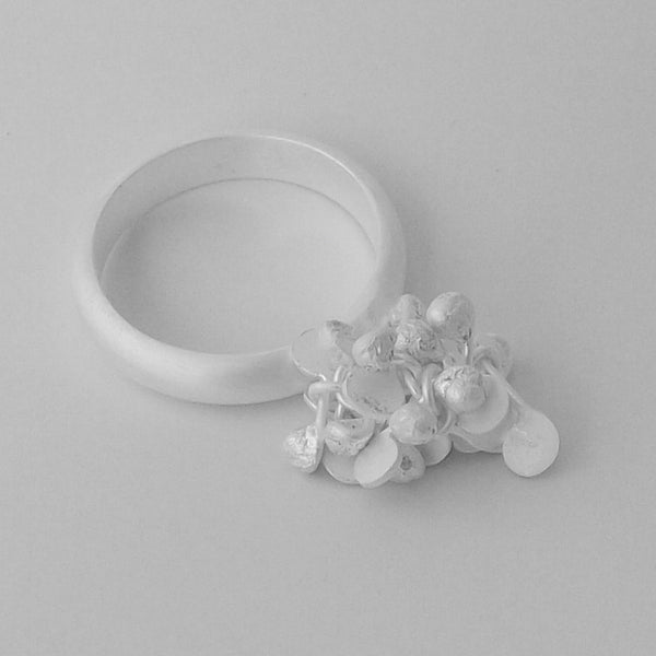 Radiance Ring, satin silver by Fiona DeMarco