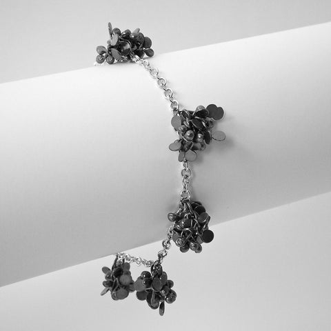 Radiance multi Bracelet, oxidised silver by Fiona DeMarco