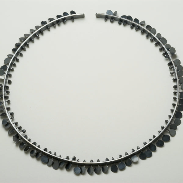 Icon Choker, oxidised silver by Fiona DeMarco
