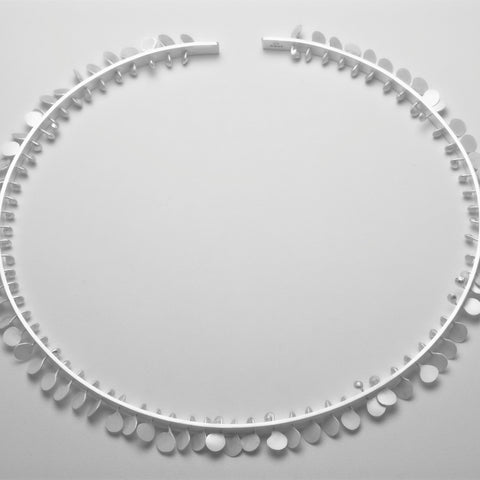 Icon Choker, satin silver by Fiona DeMarco