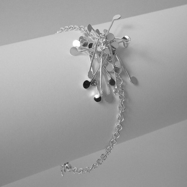 Signature Cluster Bracelet, polished silver by Fiona DeMarco