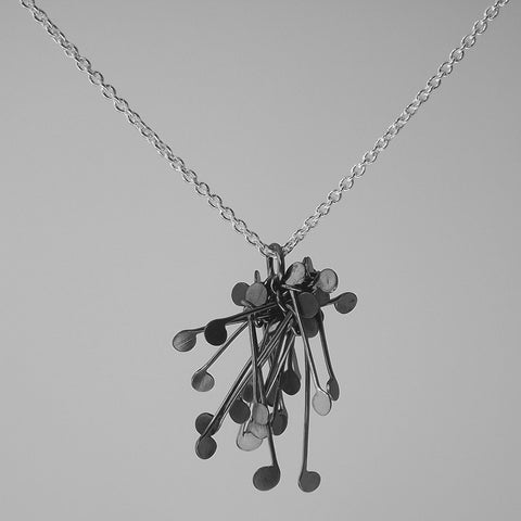 Signature Cluster Pendant, oxidised silver by Fiona DeMarco