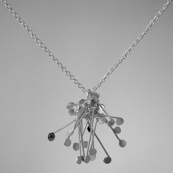 Signature Cluster Pendant, polished silver by Fiona DeMarco