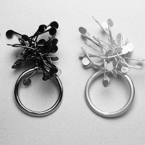 Signature Cluster Rings, oxidised and satin silver by Fiona DeMarco
