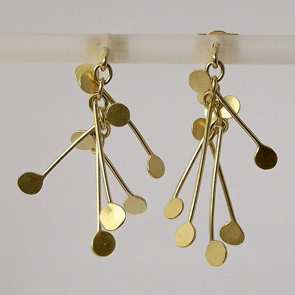 Signature Precious stud Earrings, 18ct yellow gold satin by Fiona DeMarco
