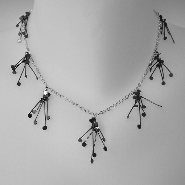 Signature charm Necklace, oxidised silver by Fiona DeMarco