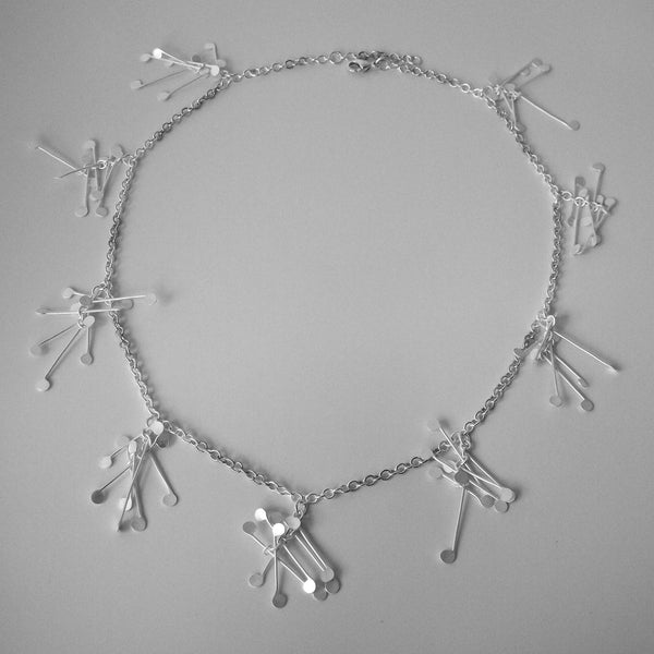 Signature charm Necklace, satin silver by Fiona DeMarco