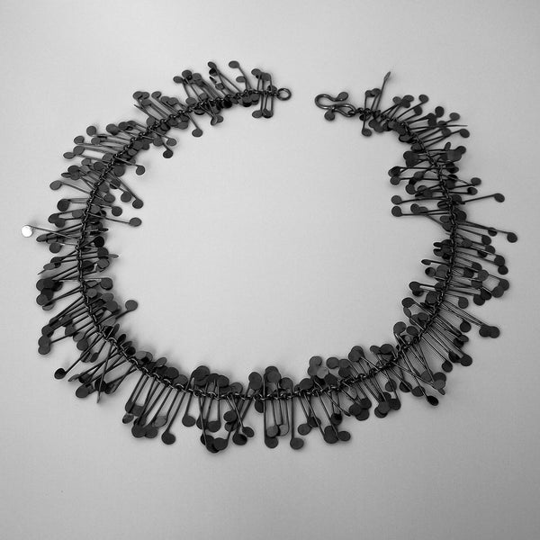 Signature Necklace, oxidised silver by Fiona DeMarco