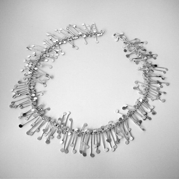 Signature Necklace, polished silver by Fiona DeMarco