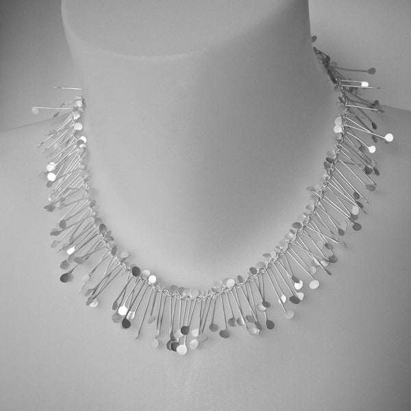 Signature Necklace, satin silver by Fiona DeMarco