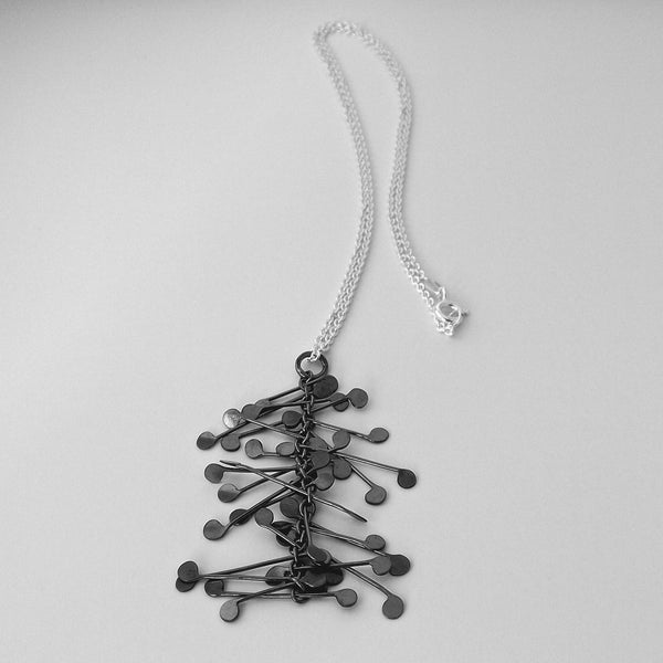 Signature Pendant, oxidised silver by Fiona DeMarco