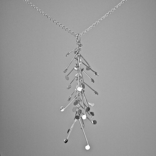 Signature Pendant, polished silver by Fiona DeMarco