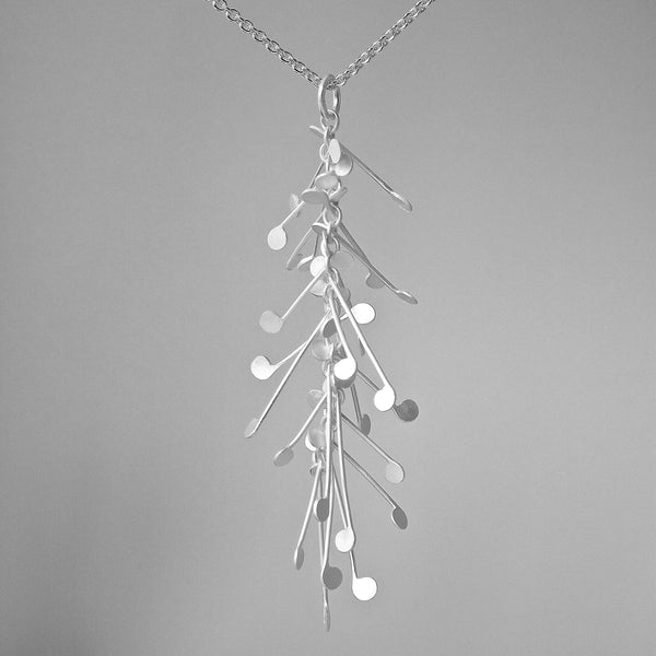 Signature Pendant, satin silver by Fiona DeMarco