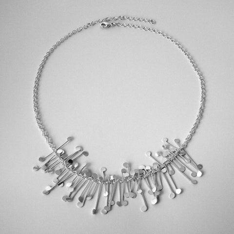 Signature semi Necklace, polished silver by Fiona DeMarco