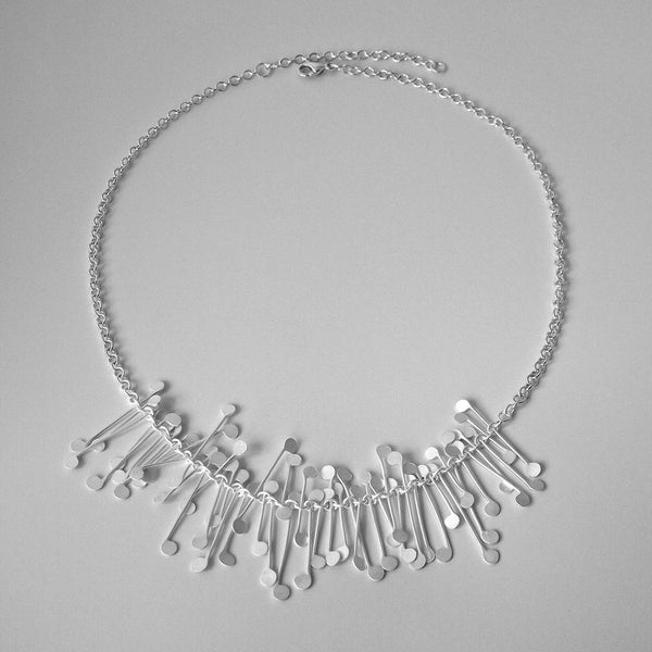 Signature semi Necklace, satin silver by Fiona DeMarco