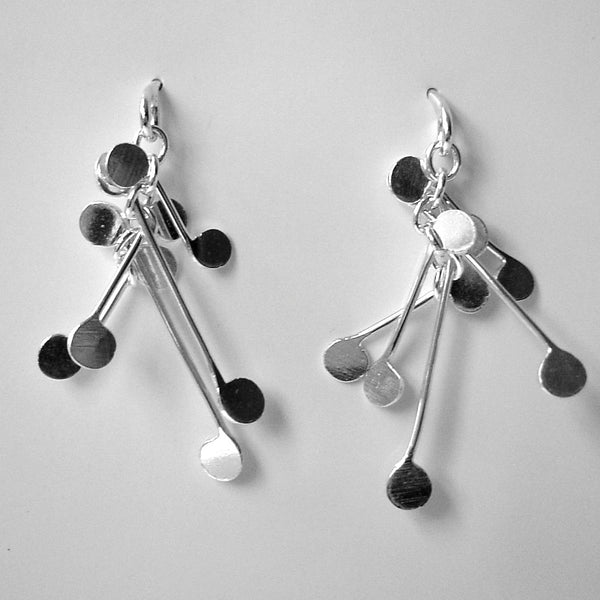 Signature stud Earrings, polished silver by Fiona DeMarco
