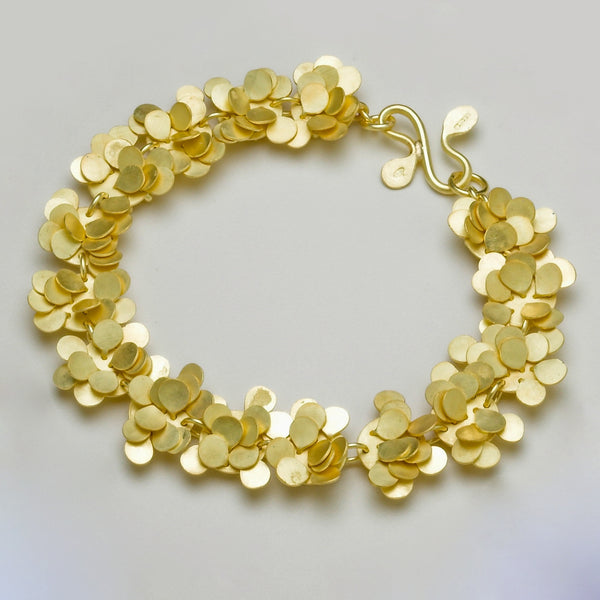 Symphony Precious bracelet, 18ct yellow gold satin by Fiona DeMarco