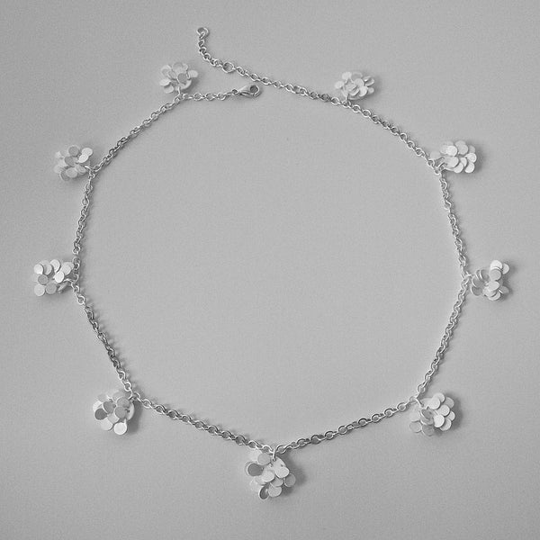 Symphony charm Necklace, satin silver by Fiona DeMarco
