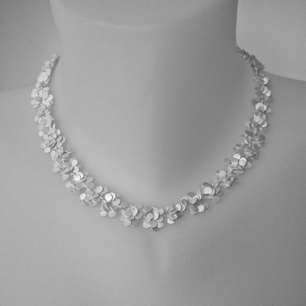 Symphony Necklace, satin silver by Fiona DeMarco