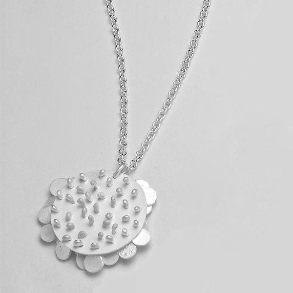 Symphony Pendant reverse side, satin silver by Fiona DeMarco