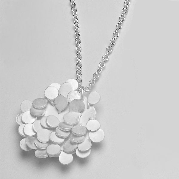 Symphony Pendant, satin silver by Fiona DeMarco