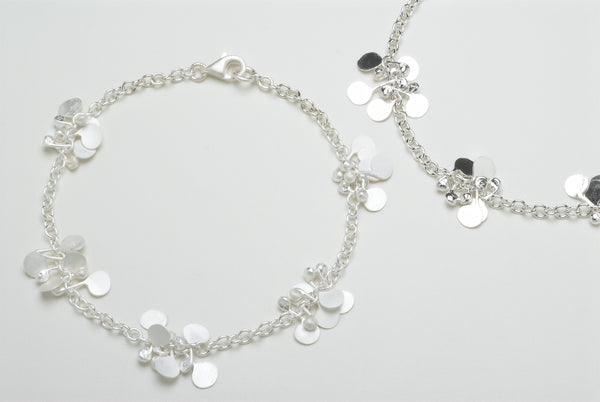 Accent Bracelets, satin & polished silver by Fiona DeMarco
