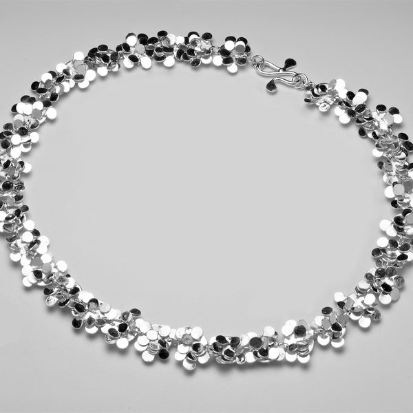 Symphony Necklace, polished silver by Fiona DeMarco