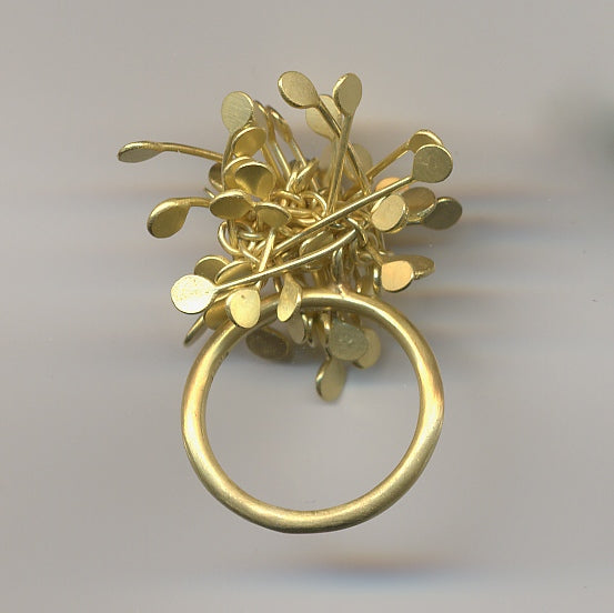 Signature Precious cluster Ring, 18ct yellow gold satin by Fiona DeMarco