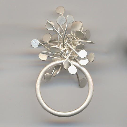 Signature Cluster Rings, satin silver by Fiona DeMarco