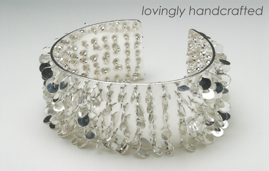 Homepage slideshow Icon cuff polished silver by Fiona DeMarco