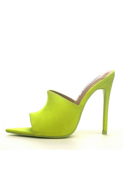 Cece Pointed Toe Mule (Lime)- FINAL SALE