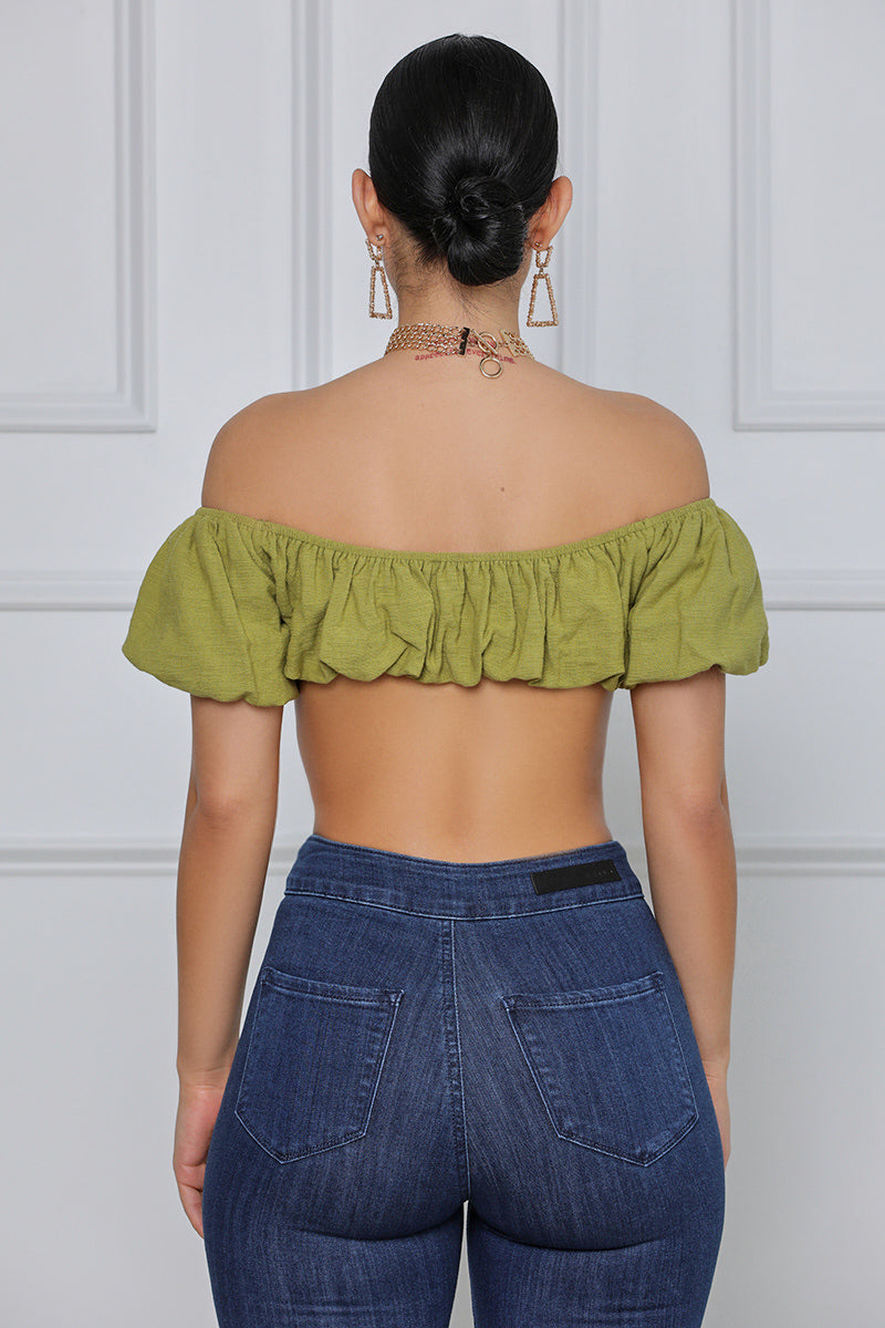 Envy Me Bandeau Top (Olive)