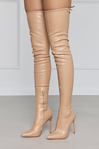 Highrise Thigh High Boot (Camel)
