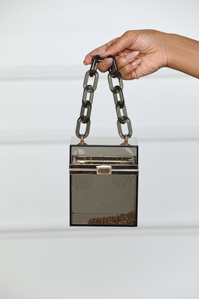 Transparent Box Mini Bag- Black