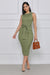 Come Closer Tank Knit Bodycon Midi Dress (Olive)