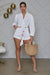 White Summer Rope Belted Romper