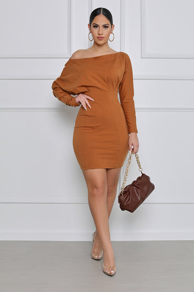 On My Mind Off the Shoulder Mini Dress