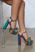 Noreen Platform Heel (Rainbow Snake)- FINAL SALE