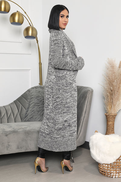 Cozy Knit Cardigan (Heather Grey)