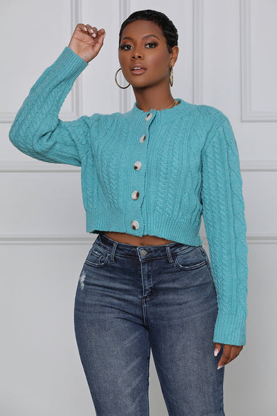 Best Behavior Button-up Cardigan (Blue)