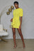 Puff Sleeve Bodycon Mini Dress (Yellow)- FINAL SALE