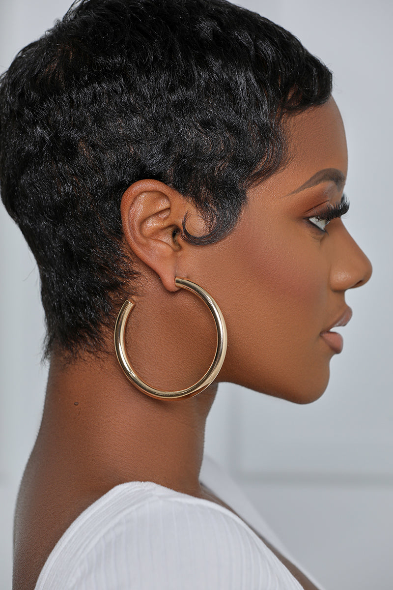 The Perfect Thick Gold Hoop Earrings (2.75 Inches)