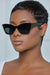 Small Retro Chic Cat Eye Sunglasses (Black)
