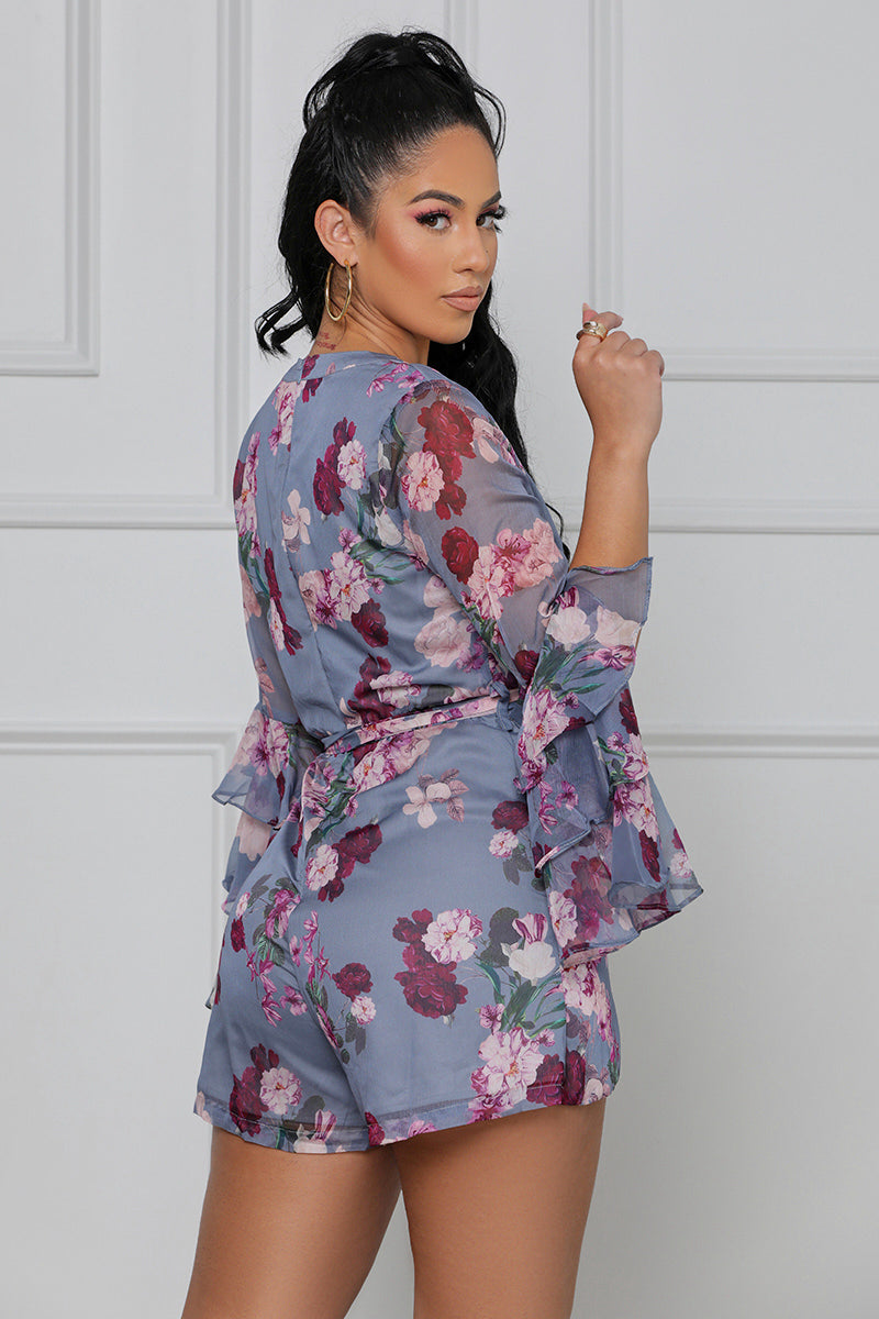 Love Again Floral Romper (Purple Multi)