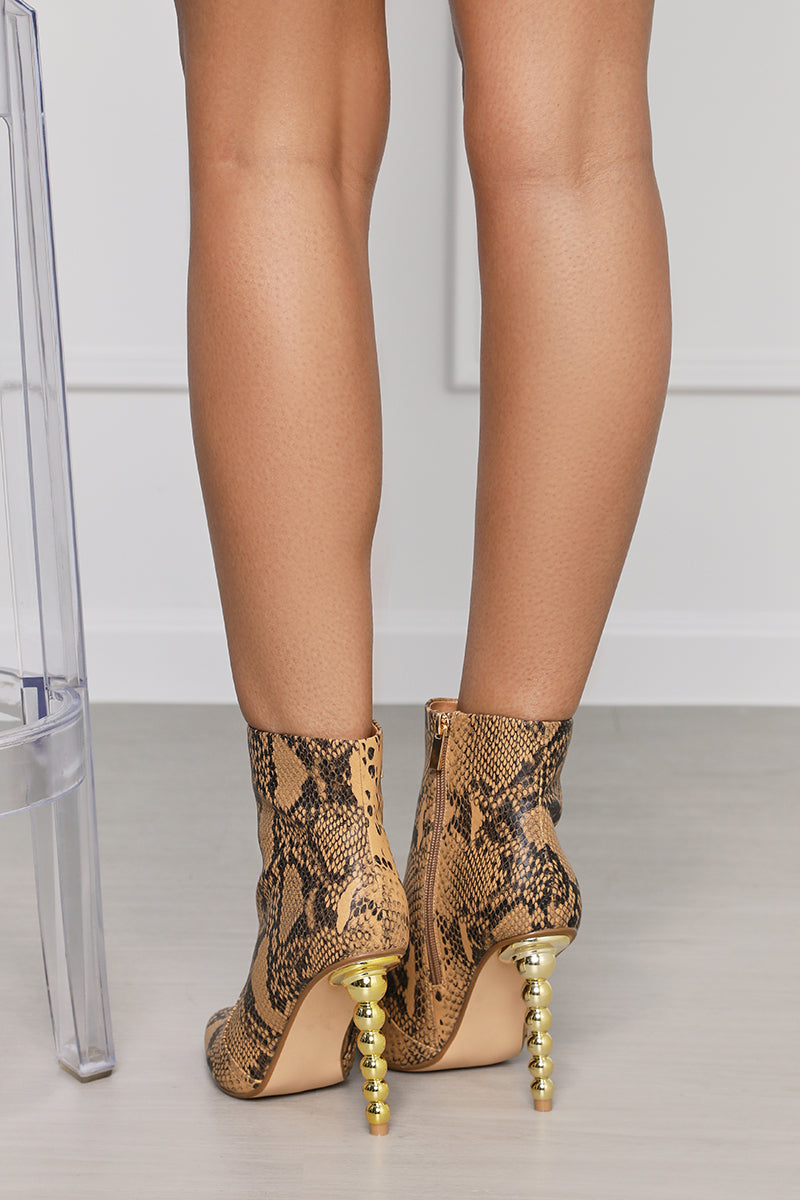 Tilly Snake Print Bootie