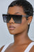 Retro Shield Sunglasses (Black Tint)